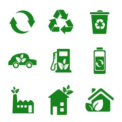 Ecology Green Icon Silhouette