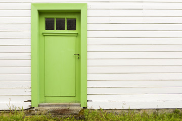 alte grüne Holztür