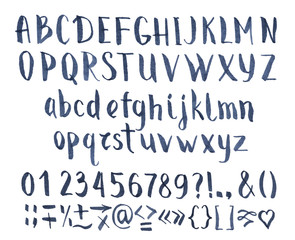 Drawing vector calligraphic font