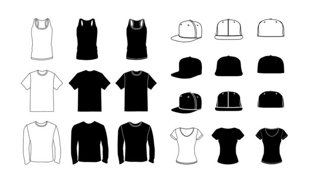 Clothes template silhouette collection