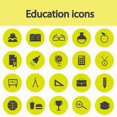 Vector icons of education, school