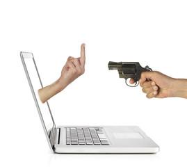 Online bedrohen