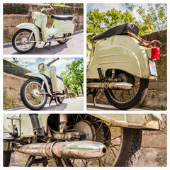 Collage Schwalbe DDR Moped