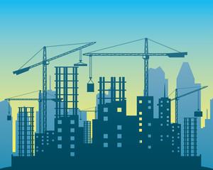 Vector illustration. Construction.