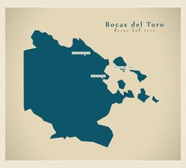 Modern Map - Bocas del Toro PA