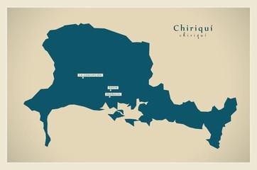Modern Map - Chiriqui PA