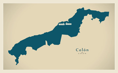 Modern Map - Colon PA