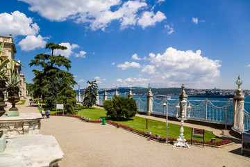 Istanbul, Turkey. Park of  Dolmabahce Palace