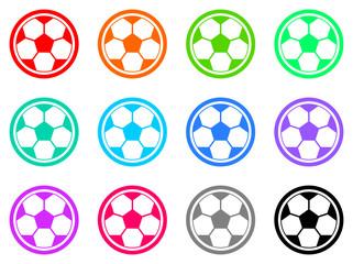 soccer vector flat icons set