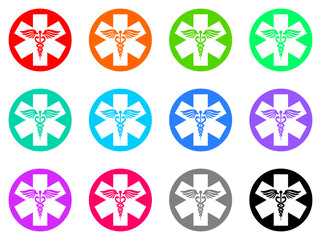 emergency vector icons set