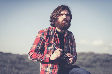 Photographer in the wilderness