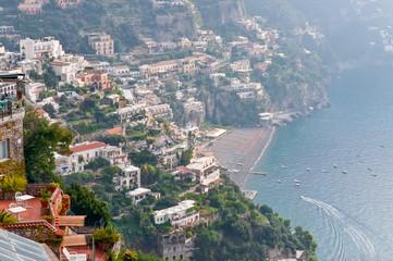 Positano in the haze, Amalfi Coast