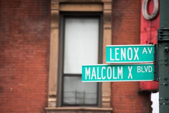 new york street sign: Malcom X