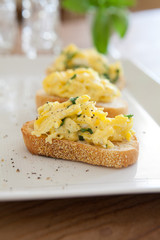 Scrambled Egg Crostini