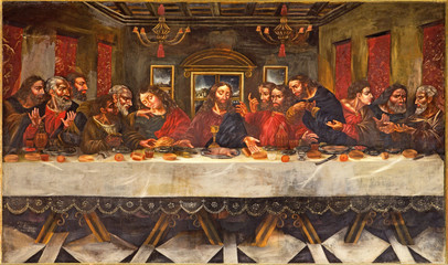 Wall Mural - Granada - Last supper in church  Monasterio de San Jeronimo.
