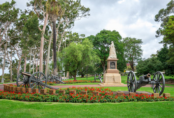 A statue of Queen Victoria in Kings Park and Botanical Gardens i