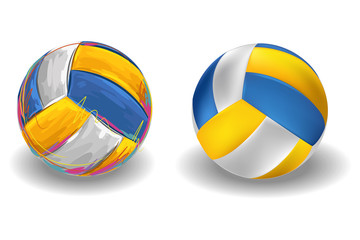 Volleyball Isolated on white Background.