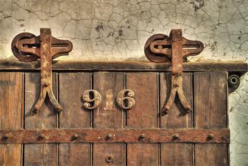 Wooden Cell Door in Eastern State Penitentiary, Philadelphia, Pennsylvania