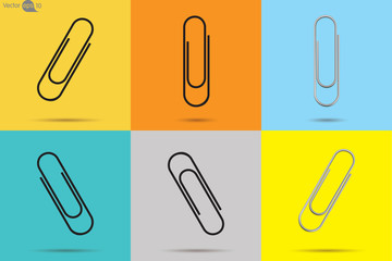 Paperclips. Vector