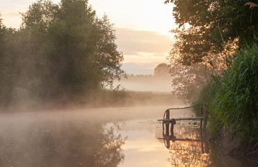 Summer morning on the river