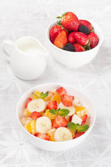 bowl of fresh fruit salad, close-up