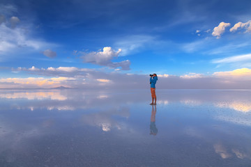 Salar de Uyuni is largest salt flat in the World, Altiplano, Bol