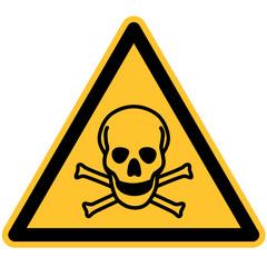 Warnschild Warnung vor Giftigen Stoffen nach DIN 7010 / ASR 1.3 W016