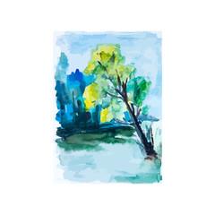 Green forest, vector illusrtation