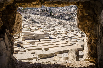 Jerusalem cemetery on the Mount of Olives