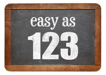 Easy as 123 blackboard sign Wall mural