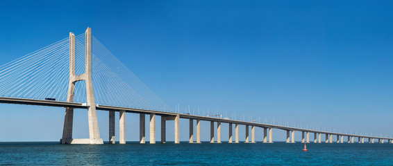 Printed kitchen splashbacks Bridges Vasco da Gama Bridge in Lisbon