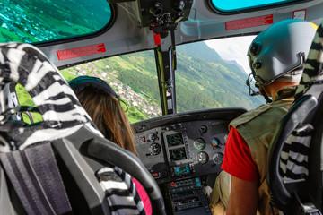 In volo su elicottero civile