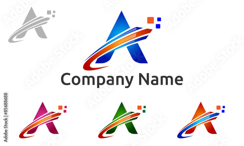 quot a letter a digital arrow logo vector quot stock image and royalty free vector files on fotolia