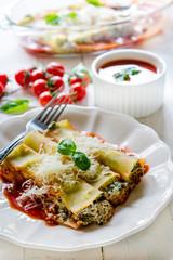 Served cannoli pasta