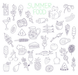 summer food doodles