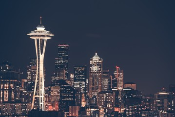 Seattle City Skyline Wall mural