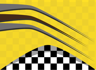 background vector checkered flag. Sports wallpaper