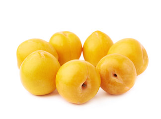 Yellow plums composition isolated