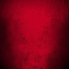 red background. Christmas background with black grunge textured borders