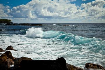Beautiful Hawaiian Surf Waves on Hawaii Island