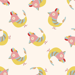 bird cartoon , cartoon seamless pattern background