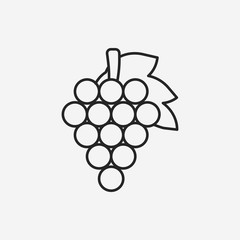 fruits grapes line icon