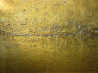 Fototapete - bronze metal texture with high details