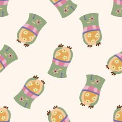 owl cartoon , cartoon seamless pattern background