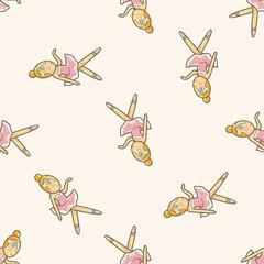 ballet dancer , cartoon seamless pattern background