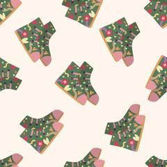 shoe style , cartoon seamless pattern background