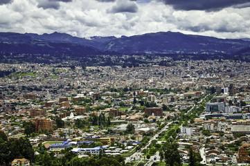 Partial view of Cuenca, Ecuador