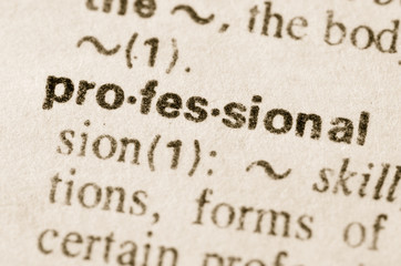 Dictionary definition of word professional