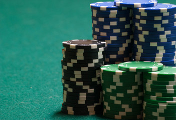 Poker chips and copy space