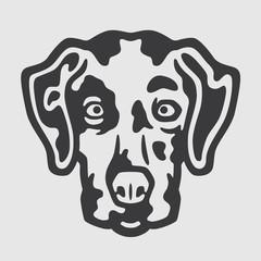 Dalmatian Head Logo Mascot Emblem